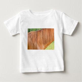 Camiseta De Bebé Caballo marrón árabe en la opinión del cierre del