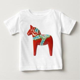 Camiseta De Bebé Caballo rojo de Dala del sueco