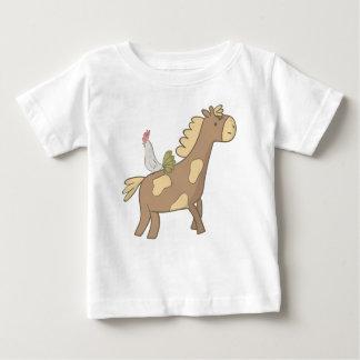 Camiseta De Bebé Caballo y gallo