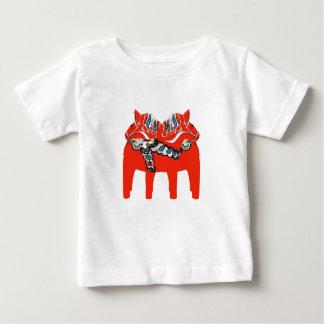 Camiseta De Bebé Caballos ropa y regalos de Dala del sueco