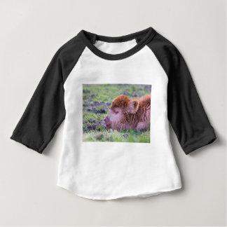 Camiseta De Bebé Cabeza del becerro escocés recién nacido marrón