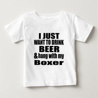 Camiseta De Bebé Caída con mi boxeador