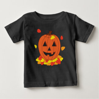 Camiseta De Bebé Calabaza sonriente