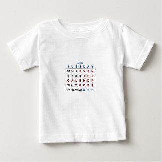 Camiseta De Bebé Calendario qué el WTF