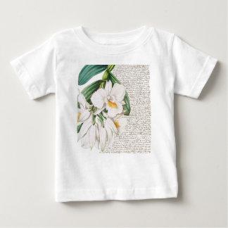 Camiseta De Bebé Caligrafía blanca de las orquídeas