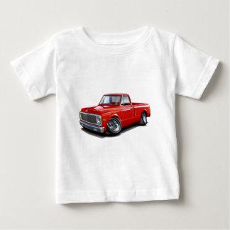 Camiseta De Bebé Camión 1970-72 del rojo de Chevy C10