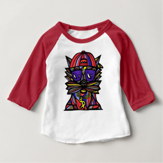 """Camiseta De Bebé """"Camiseta del raglán del bebé 3/4 de la evolución"""