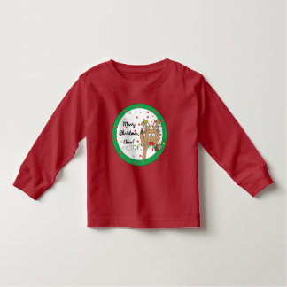 Camiseta De Bebé Camiseta/Rudolph largos de la manga del niño del