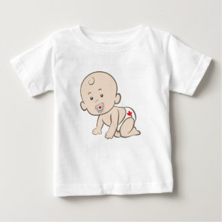 Camiseta De Bebé Canadiense de arrastre del bebé