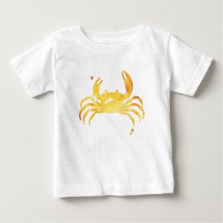 Camiseta De Bebé Cangrejo amarillo de encargo del watercolour