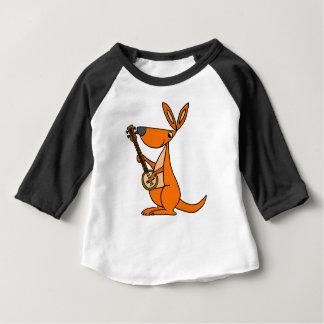 Camiseta De Bebé Canguro lindo que juega el dibujo animado del