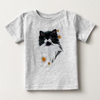 Camiseta De Bebé Cara del gatito del smoking