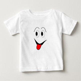 Camiseta De Bebé Cara divertida - negro y rojo