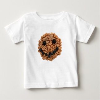 Camiseta De Bebé Cara sonriente linda de la fruta y del cereal