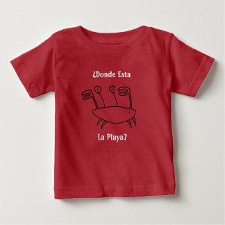 Camiseta De Bebé ¿Carácter del cangrejo del dibujo animado - La