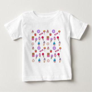 Camiseta De Bebé Caramelo, dulces y torta