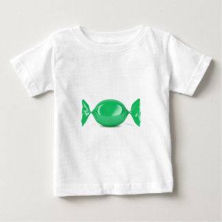 Camiseta De Bebé Caramelo duro envuelto verde