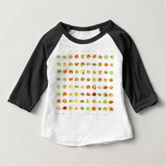 Camiseta De Bebé Caramelo y fondo inconsútiles del modelo de los