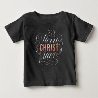 Camiseta De Bebé Carpa de la pizarra de las Felices Navidad