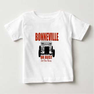 Camiseta De Bebé carrera de caballos de la sal de bonneville