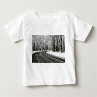 Camiseta De Bebé Carretera con curvas curvada nieve