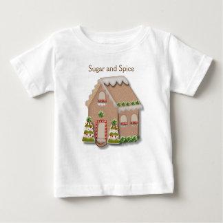 Camiseta De Bebé Casa de pan de jengibre del navidad