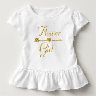 Camiseta De Bebé Casar al florista nupcial del oro del purpurina de
