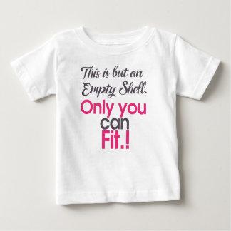 Camiseta De Bebé cáscara del empt