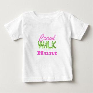 Camiseta De Bebé Caza del paseo del arrastre