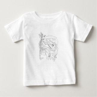 Camiseta De Bebé Cazador y faisán Ukiyo-e