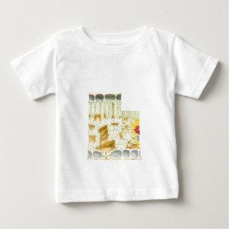 Camiseta De Bebé Células modelo de la planta con clorofila de los