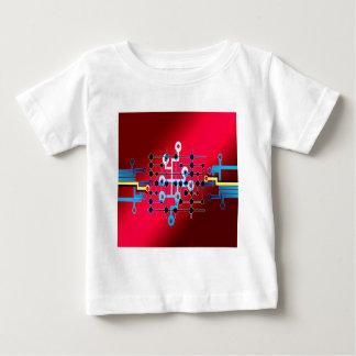 Camiseta De Bebé cente del control de rastro de circuitos del