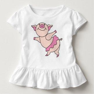 Camiseta De Bebé Cerdo del ballet