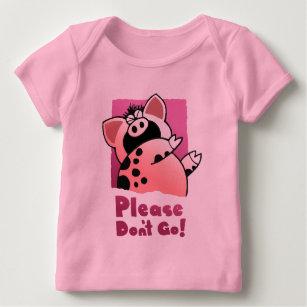 6b44a14959ea Camiseta De Bebé Cerdo divertido divertido del dibujo animado del
