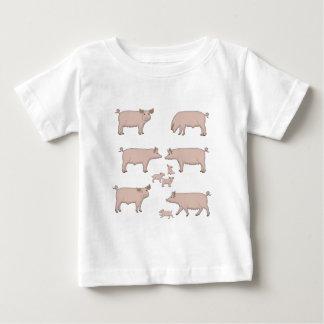 Camiseta De Bebé cerdos