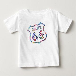 Camiseta De Bebé ¡Chapoteo del color de la ruta 66!