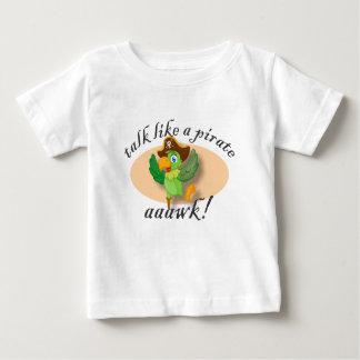 Camiseta De Bebé Charla como un loro del pirata