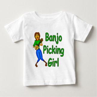 Camiseta De Bebé Chica de la cosecha del banjo
