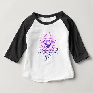 Camiseta De Bebé chica del diamante, gema que brilla