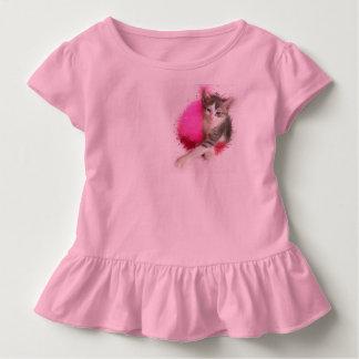 Camiseta De Bebé Chica del gatito