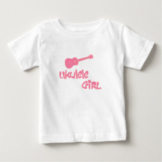 Camiseta De Bebé Chica del Ukulele