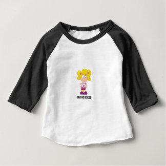 Camiseta De Bebé chica rubio de la belleza
