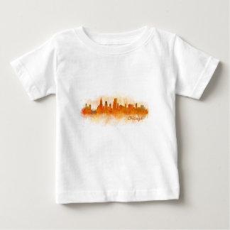 Camiseta De Bebé chicago skyline watercolor cityscape v03
