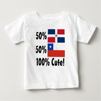 Camiseta De Bebé Chileno del Dominican el 50% del 50% el 100% lindo