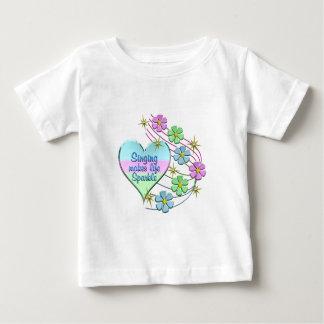 Camiseta De Bebé Chispas del canto