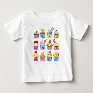 Camiseta De Bebé Chucherías cocidas dulce delicioso del monograma