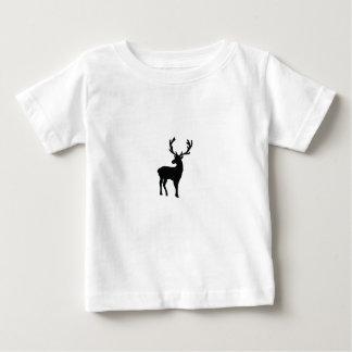 Camiseta De Bebé Ciervos blancos y negros