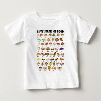 Camiseta De Bebé CINCUENTA ESTADOS de arte de Estados Unidos