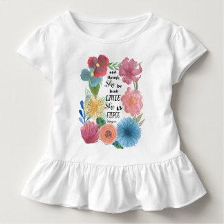 Camiseta De Bebé Cita feroz de Shakespeare con las flores de la