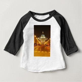Camiseta De Bebé Ciudad del Vaticano, Roma, Italia en la noche